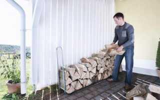 Подставка для хранения дров