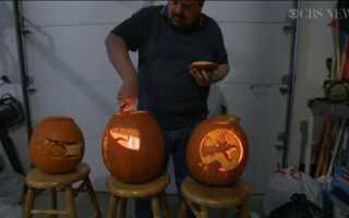 Украшение тыквы на Хэллоуин может быть искусством (видо)