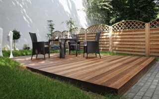 Деревянная терраса — деревянная охрана —