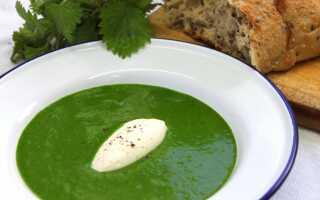 Суп из крапивы по-французски