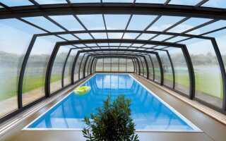 Закрепление бассейна благодаря современным крышам Alukov — E-ogrody