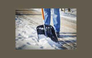Как убрать снег с бетонных блоков