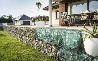 Заборы и стены из габионов — варианты обустройства