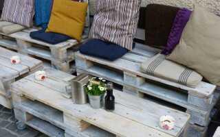Садовая мебель с поддонами