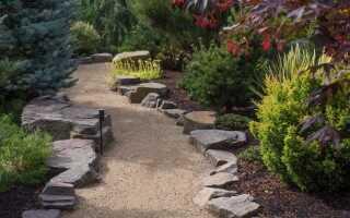 Галечная дорожка в саду — шаг за шагом