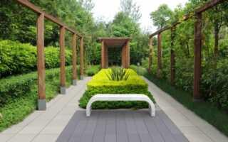 Архитектурный бетон в современном саду