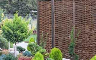 Заборы и плетеные коврики — как использовать их в саду