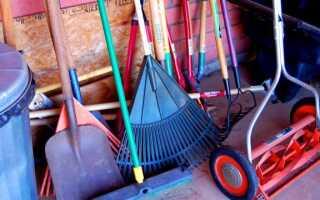 Время весенней уборки в саду