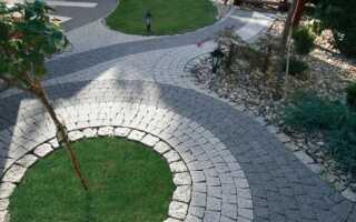 Садовые тротуары на дуге