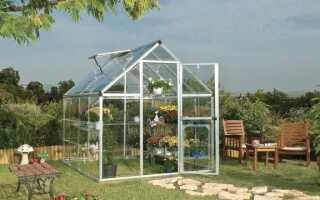 Поликарбонатная теплица для домашнего сада