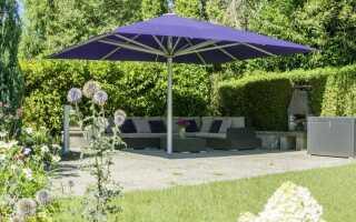 Современные садовые зонтики — вызов солнцу