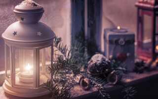 Как украсить сад на Рождество