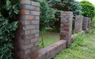 Мы строим клинкерный забор из готовых элементов. [ФОТОГРАФИИ]