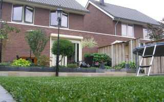 Искусственная трава в саду и на балконе или террасе