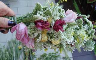 Как сделать гирлянду из сухих цветов — шаг за шагом