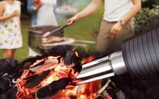 Тепловая пушка HL 1400 S Grill эффективно поджигает любое барбекю