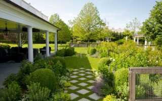 Поверхность сада — плиты