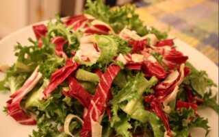 Салат с цикорием и соусом винегрет