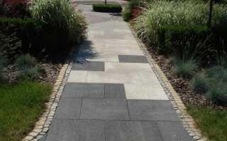 Садовая дорожка из плит — проектирование и строительство