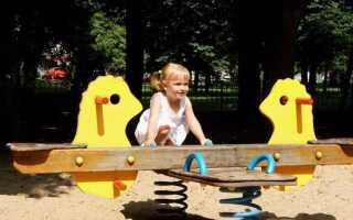 Сад для детей, игровая площадка в саду