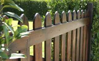 Деревянный забор — пропитка