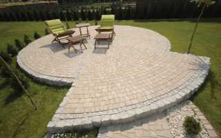 Терраса с бетонными плитами —