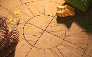Террасная плитка со структурой из песчаника