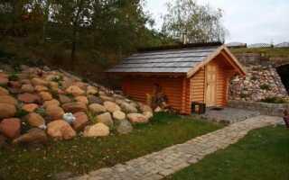 Баня руська в польском саду